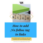 How to add no follow option to Links (step by step tutorial to add no follow tag)