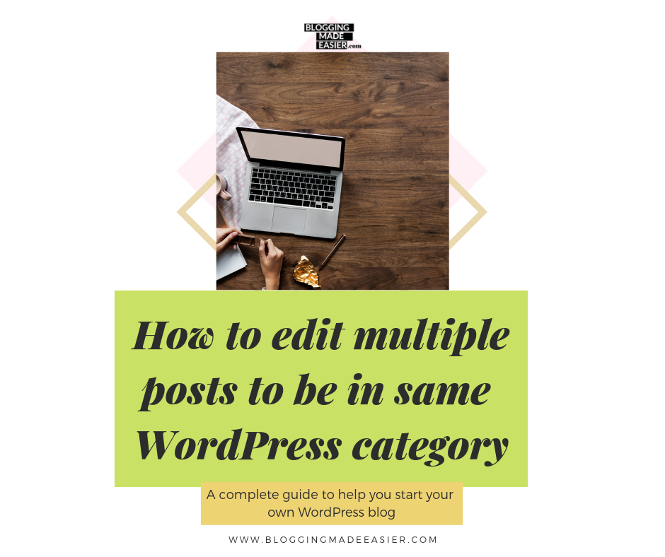 How to edit multiple posts to be in WordPress category at once