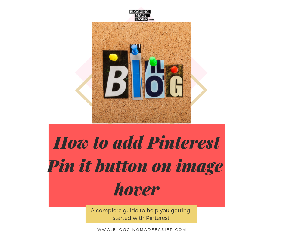 how to add a Pinterest pin it Button on your Wordpress website, blog or store via Wordpress plugin.