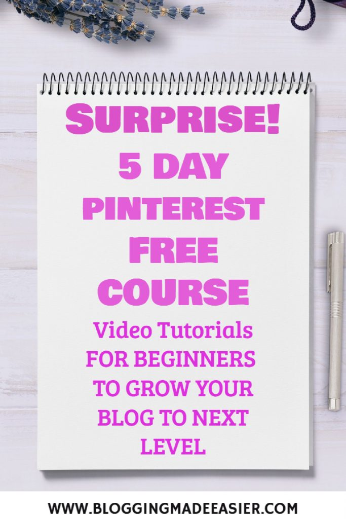 Free Pinterest Course for beginners