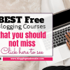 Best Free Blogging Courses to grow our blog for new bloggers
