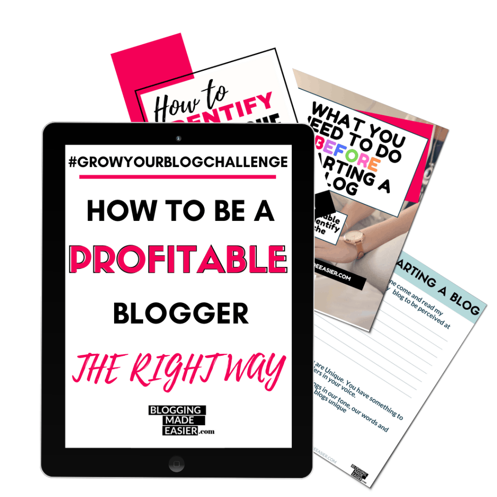 HOW TO BE A PROFITABLE BLOGGER Grow your blog challenge