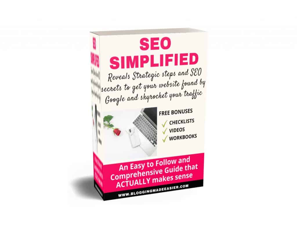 SEO simplified ebook 3d cover