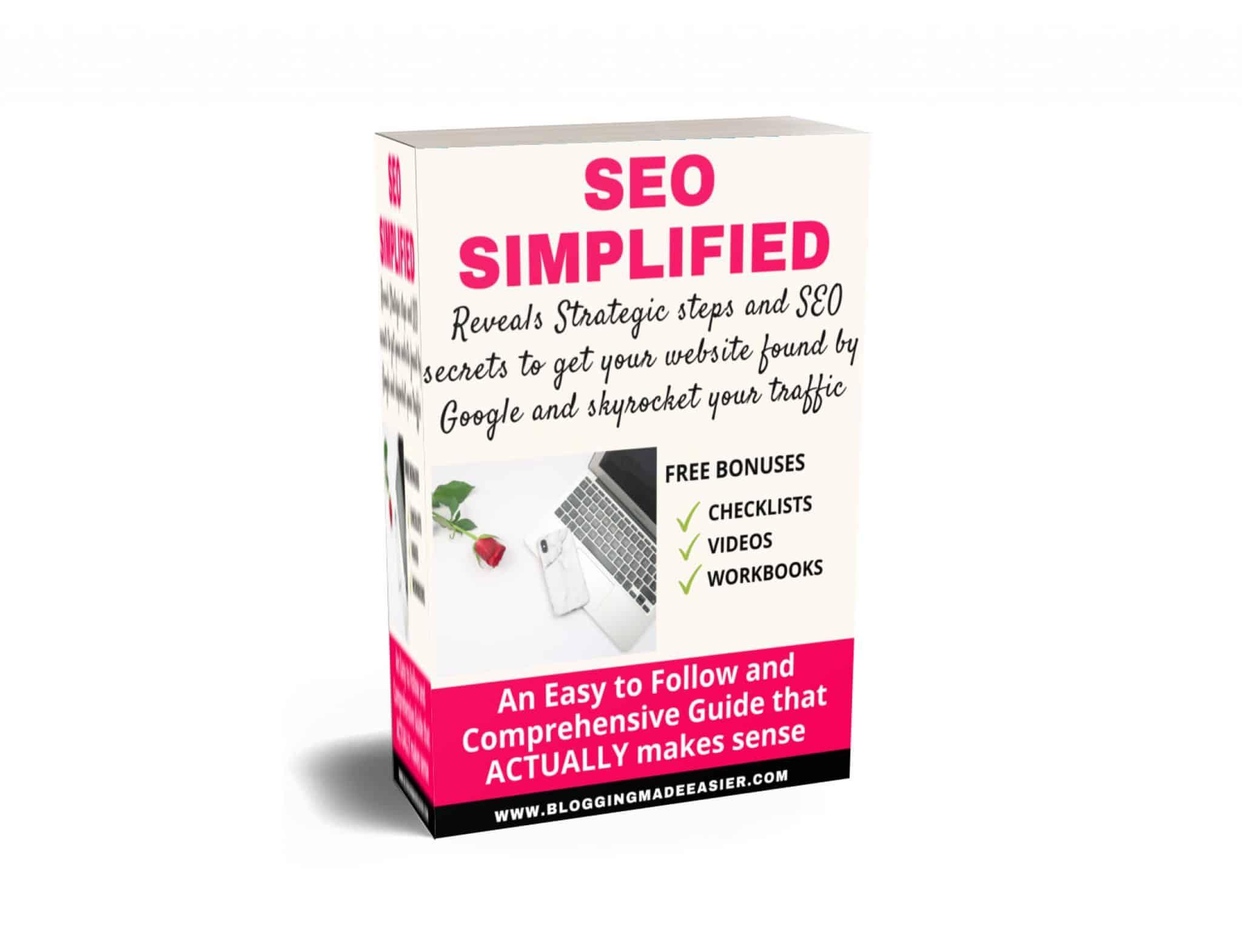 SEO simplified ebook 3d cover