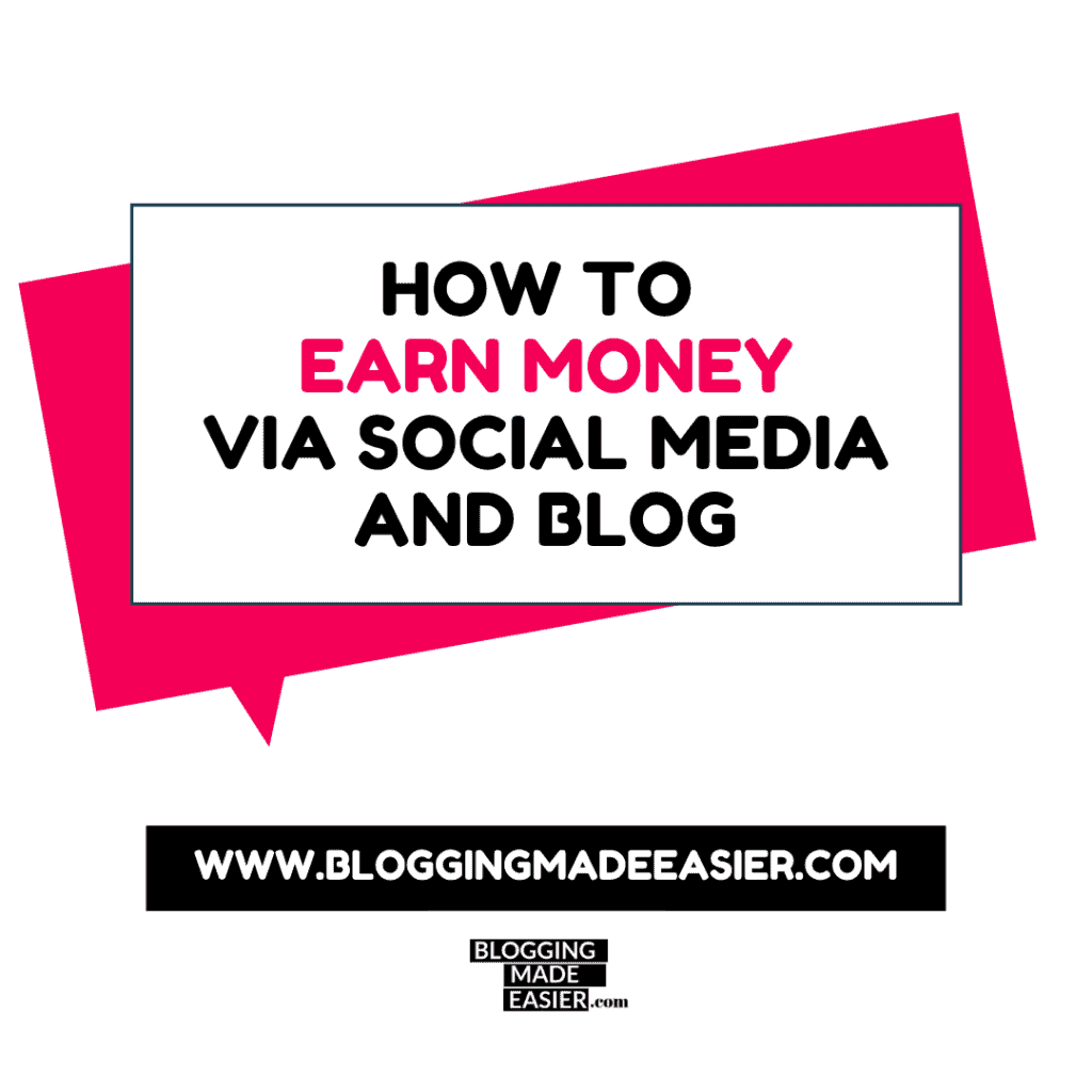 How to earn money via social media and website