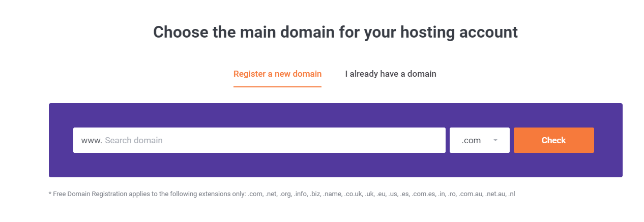 Choose a domain - How to start a website