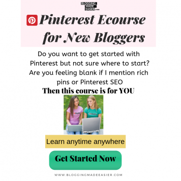 Pinterest course for beginners new bloggers